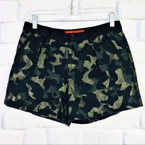 Anthropologie Camo Tailored Shorts by Cartonnier